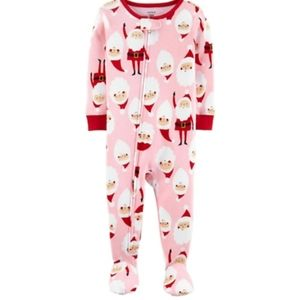 NEW SZ 3 CARTER' GIRLS COTTON FOOTED SNUG FIT PJ'S